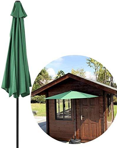 RUINAIER Sombrilla con Mástil de para Terraza Playa La Mitad de 10 pies Parasol Parasol Redondo Circular de Semi de pequeña terraza Balcón Jardín protección UV 40+