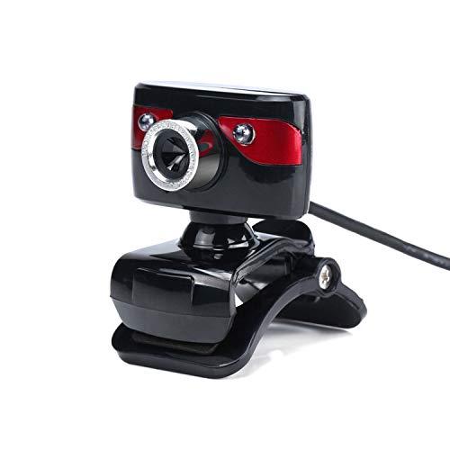 DATUI Webcam para PC HD Cámara de ordenador 2 Led Luz Micrófono incorporado Cámara Cámara Cámara Casa Oficina Clase Online