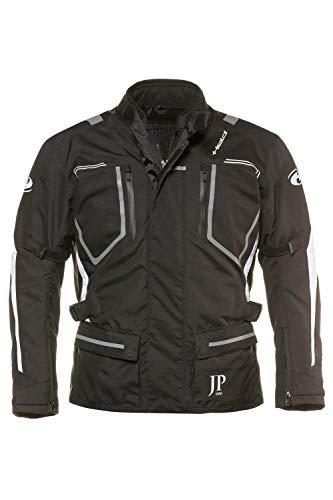 JP 1880 Herren große Größen bis 7 XL, Motorradjacke mit auszippbarem Thermofutter, Soft-Protektoren & Taillengürtel schwarz XL 714280 10-XL
