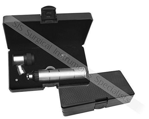 DERMATOSCOPIO pelle DERMATOLOGIA DIAGNOSTICA & ESAME Set MIGLIORATO disegno con valigetta EXTRA LENTE & Lampadina 3V led. EQUINOX