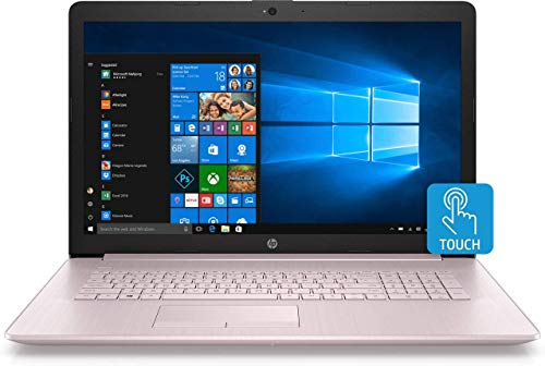 HP 17.3inch Touchscreen Laptop 17-ca0010ds, AMD Ryzen 3 2300U 2.0GHz, 8GB RAM, 1TB, Tranquil Pink (Renewed)