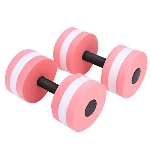 DAUERHAFT Flotador de Agua con Mancuernas Ejercicio aeróbico Yoga Mancuernas con Mancuernas Fitness 1 par con Gran flotabilidad para Entrenamiento de natación(Pink)