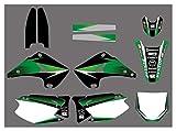 XIAOZHIWEN Etiqueta engomada de la calcomanía de Fondo gráfico de la Motocicleta for Kawasaki KX125 KX250 1994-1998 Universal