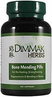 Bone Mending Pills by Dimmak Herbs, Bone Fracture Healing Supplement, Bone Strengthening Pills, Chinese Medicine Herbs and Healing - 500 Milligrams, 100 Capsules