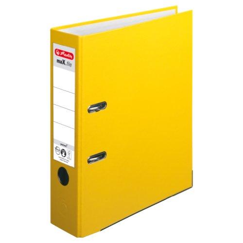Herlitz 5481304 Ordner maX.file protect A4 (8 cm mit Einsteckrückenschild) gelb