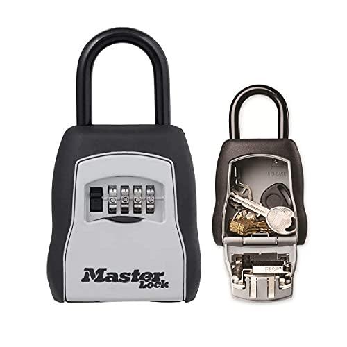 Master Lock Caja Fuerte para Llaves + Correa de Llaves retráctil [Mediana] [con Arco] - 5400EURD - Caja de Seguridad