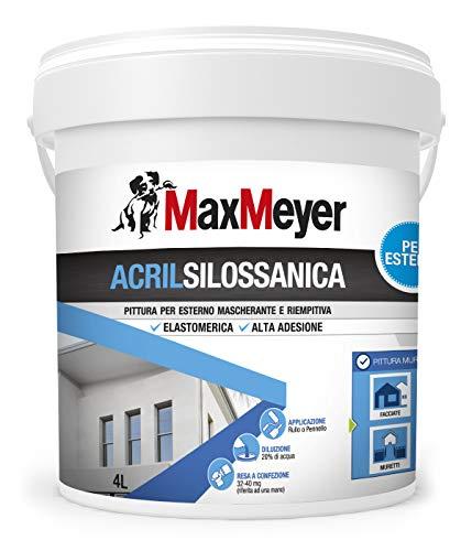 MaxMeyer Pittura per esterni Acrilsilossanica Elastomerica BIANCO 4 L