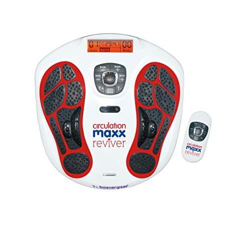 Circulation Maxx Ultra Reviver Reizstrom-Massage-Gerät I Förderliche Mikro-Reizstrom-Behandlung f. Füße & Körper I 2 Kanäle - 99 Level - Fernbedienung I BioEnergiser Elektrostimulations-Gerät