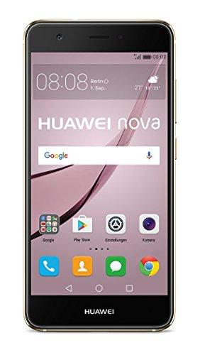 Huawei 51090UPS nova Smartphone 127cm 5Zoll, 32GB, Dual SIM 12MP Kamera Android gold
