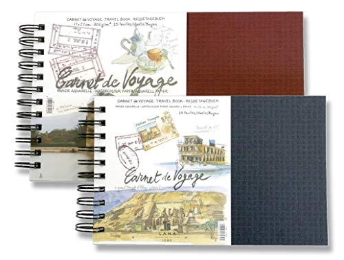 Aquarellbuch, Landschaftsformat 300 g/m² - Lana CARNET DE VOYAGE, Aquarell, 25 Blatt, 300g, spiral, 14 x 22 cm