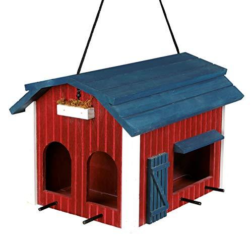 Trixie 55853 Futterhaus Scheune, Holz, 4.000 ml/24 × 22 × 32 cm, rot