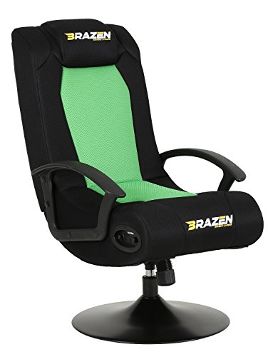 BraZen Stag 2.1 Bluetooth Surround Sound Gaming Chairs for Kids with Speaker Subwoofer and Pedestal...