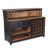 BEVANDE BAR 'PUREWOOD' | 150x110x55 cm (LxAxP), legno riciclato | bancone da bar, bancone in legno, Armadietto bar, Tavolo da bar