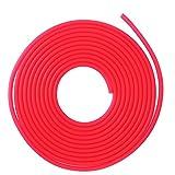 SZHWLKJ Tubo de la bomba de aire del acuario de 5m Manguera de oxígeno de los acuarios del silicón suave para el tanque de peces, estanque, Acuario (rojo)