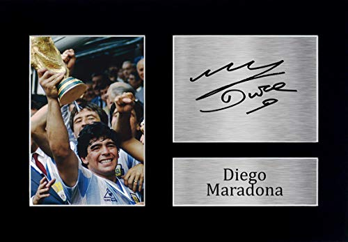 HWC Trading Diego Maradona A4 Ungerahmt Signiert Gedruckt Autogramme Bild Druck-Fotoanzeige Geschenk Für Argentina Fußball Fans