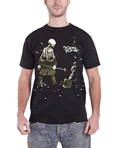 My Chemical Romance T-Shirt Shredded da Uomo in Nero