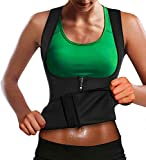 Memoryee Chaleco de Sauna de Neopreno para Mujer Fitness Ejercicio Fitness Pérdida de Peso Corsé Chaleco Corsé/Negro/L