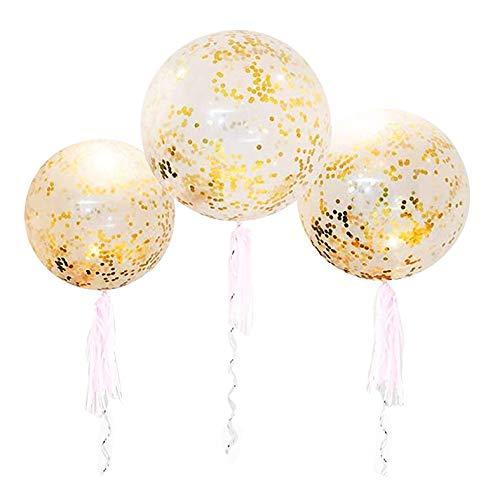 36 Inch Jumbo Confetti Balloons, Giant Latex Balloon with...
