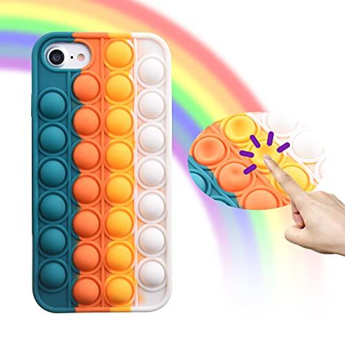 Eco-Fused 1x Custodia per Telefono Fidget toy Sensoriale Scoppia Bolle – Cover Protettiva per Telefono in Silicone Compatibile con iPhone 7/8/SE2020 - Protegge da Urti e Graffi