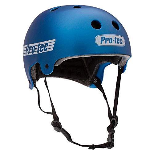 Pro-Tec Helmet Old School Cert Casco Skateboard, Adulti Unisex, Blu Matte Metallic Blue, M