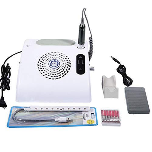 Machine de ponçage blanche LED d'aspirateur de clou multifonctionnel de machine à ongles allumant 3 dans 1 machine de polissage professionnelle 110 / 220v