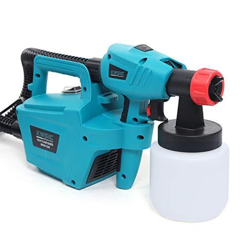 Berkalash Elektro Lackierpistole, 700ml/s Farbsprühsystem, 800W Elektrische Farbspritzpistole Sprühpistole, für Lacke & Wandfarbe im Innen- & Außenbereichmit, 800ML Behälter