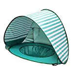 YZKJ Baby Beach Tent with Mini Pool for Infant, 2020 Upgrade Easy Fold Up & Pop Up Unique Ocean World Baby Tent, UPF 50+ UV Protection Outdoor Tent for Aged 0-4 Baby Kids Parks Beach Shade