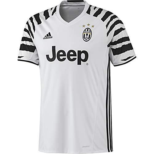 adidas Juventus 3 JSY Camiseta, Hombre, Blanco/Negro (Blanco/Negro), S