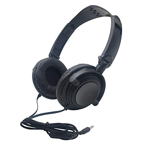 WWJ Fone de ouvido Fone de ouvido com fio de 3,5 mm para PC Fone de ouvido...