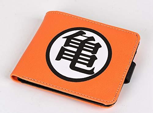 ZHOUBIN Portafoglio Anime Dragon Ball Arancione Corto in pu Manga Tasca Portamonete con Scomparto per Le Monete Porta Carte di Credito borsello portacarte for Uomo Donna