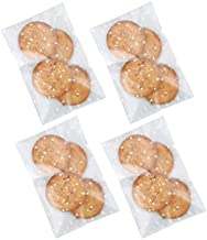 Efivs Arts 200pcs 4×6 in translucent White Polka Dot frosted Candy individual cookie wrappers Self Adhesive OPP Cookie Bak...