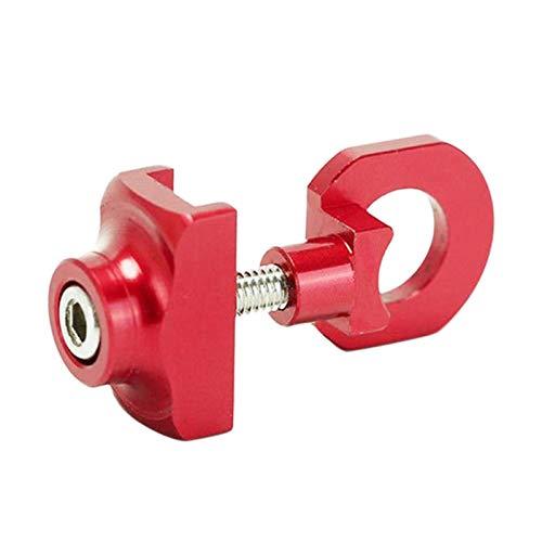 wivarra Bike Tensor De Cadena Ajustador Aleación De Aluminio Sujetador De Bicicleta Tornillo Tornillo De Perno De Bicicleta De una Sola Velocidad para BMX Fixie Bicicleta Rojo