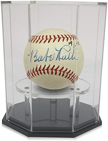 OnDisplay Deluxe UV Protected Baseball Tennis Softball Display Case Octagon Black Base product image