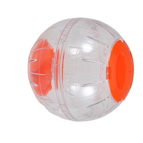 TEHAUX Kleintier-Laufball für Hamster, Laufball, Laufball, Laufball, Laufbälle, Mini-Ball für Kleintiere, Orange