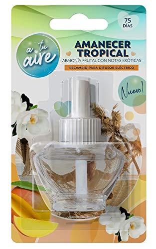 A tu aire Ambientador Eléctrico Armonía Frutal con Notas Exóticas | Fragancia Amanecer Tropical |Contenido: 1 Recambio 25 ml