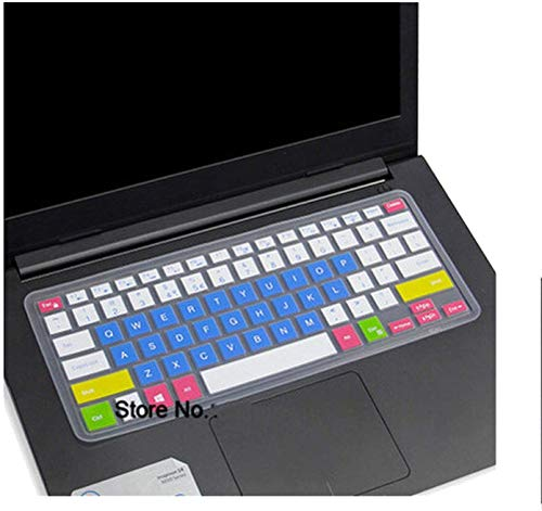 Maxsan Keyboard Cover Skin voor Dell Inspiron Vostro 7370 7560 7447 5448 5447 5468 7467 7000 5370 5471 7460, Regenboog, onesize, Kaars