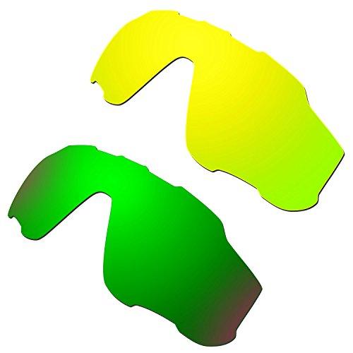 HKUCO Plus Mens Replacement Lenses For Oakley Jawbreaker - 2 pair
