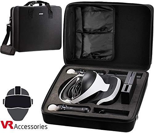 Navitech Schwarz Hart Tasche/Koffer/Abdeckung Mit Schultergurt Für Die Playstation VR ZVR1/ CUH-ZVR2