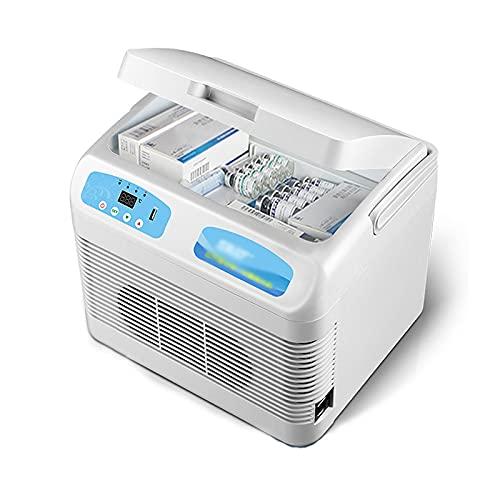 Caja Refrigerada de Insulina y Refrigerador Portátil para Medicamentos 2-25 ° C Termostato Drug Reefer Refrigeradores Portátiles para Automóvil Enfriador para el Hogar, Automóvil, Viajes, Camping