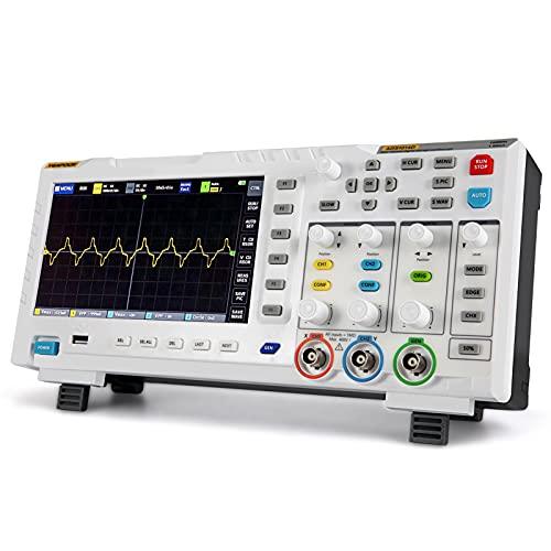 YEAPOOK ADS1014D 2 en 1 Osciloscopio digital DDS Generador de señal con 2 canales 100Mhz ancho de banda 1GSa/s Frecuencia de muestreo (ADS1014D)