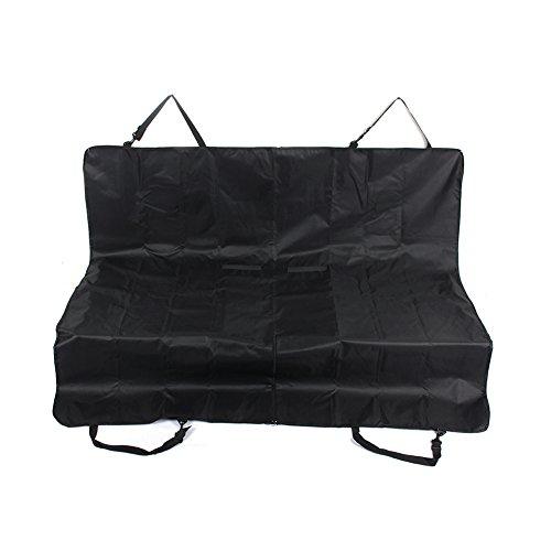Alfombra para mascotas negro, asiento de coche para mascotas, resistente al agua, antideslizante y resistente a los arañazos, funda para asiento de perro, 132 x 142 cm
