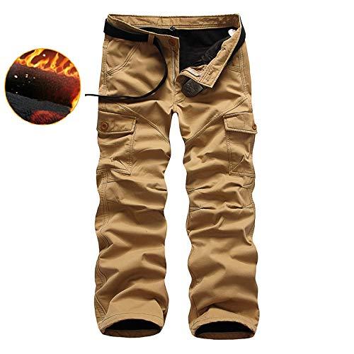 N/ A Pantaloni da Uomo Pantaloni da Lavoro da Combattimento, Pantaloni Multi Tasche Larghi Ideali per i Viaggi, Pantaloni da Arrampicata Casual all'aperto