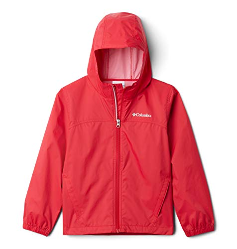 Columbia Boys' Little Glennaker Rain Jacket, Waterproof & Breathable, Mountain Red, X-Small