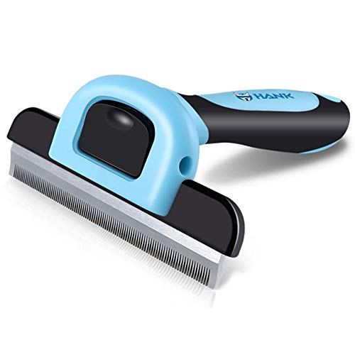 HANK Pet Grooming Brush Deshedding Tool | Gentle Dog Brushes | Short - Medium - Long Hair De-Shedding | Effectively Reduces Shedding up to 95% - by HankPets