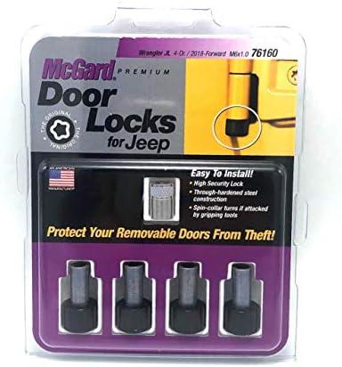 McGard Door Pin Lock 6 mm x 1 Thread 1 4 in Drive Key Included Steel Zinc Black Oxide 2 Door product image