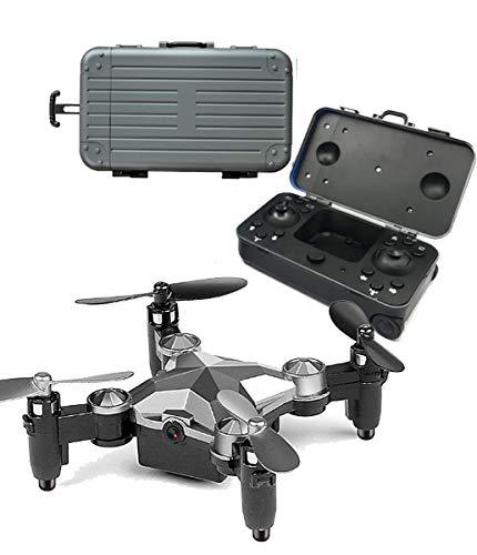 SUIYUE Mini Drone HD Telecamera Aerea Pieghevole Telecomando Aereo Drone Aereo Mini Giocattolo Little Boy Valigia Pieghevole Mini Drone Portatile Mini
