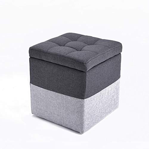 LJZslhei Hocker Kreative Multifunktionale Lagerung Hocker Mode Wohnzimmer Sofa Hocker Grau (Size : S)
