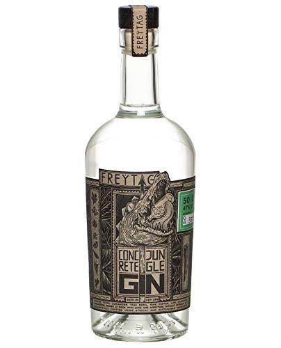CONCRETE JUNGLE GIN handcrafted premium Berlin Dry Gin - prämiert, etherisch, komplex, intensiv, wild aber mild (1x50cl)