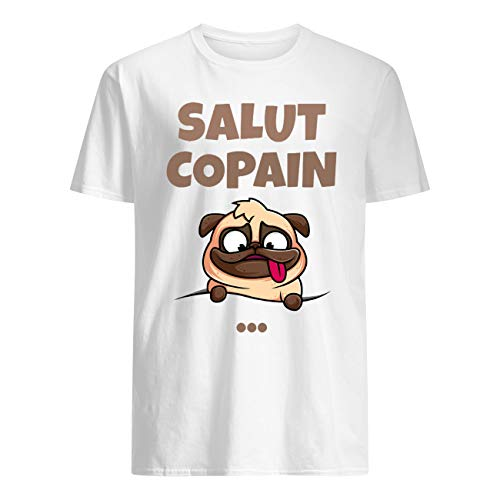 Vinsaco Cute Pug Salut Copain Hi Friend T-Shirt