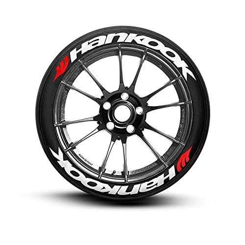 Ps1 HANKOOK - Juego de 8 pegatinas para rotulación de neumáticos de 14 a 22 pulgadas, calidad permanente